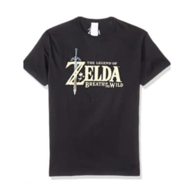 Camiseta Bioworld The Legend of Zelda Videojuegos Breath of The Wild Negra (M)