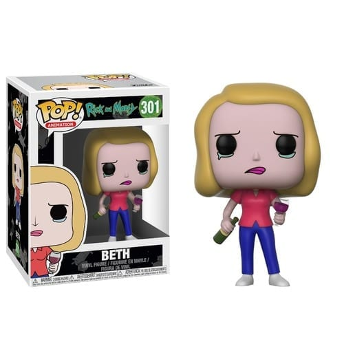 Figura Beth Funko POP Rick and Morty Animados con Copa de Vino