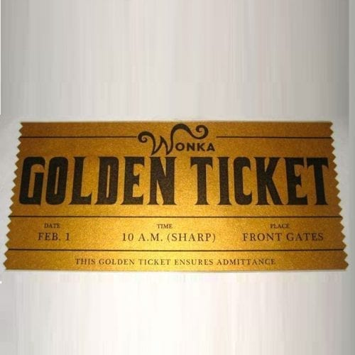 Coleccionables Golden Ticket Poof B Charlie y la fabrica de chocolates Fantasia Metalizado