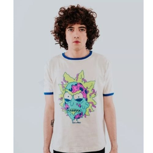 Camiseta Bad Rick Rockgotá Rick and Morty Animados Hombre (Talla S)