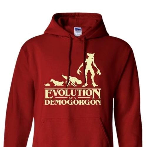 Hoodie Evolution of a Demogorgon Jaimito Stranger Things Series Talla (S)