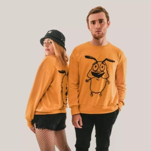 Sweater Coraje Rockgotá Cartoon Network Animados Unisex (Talla L)