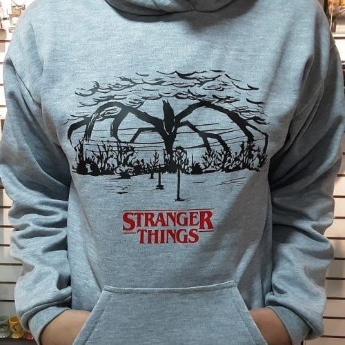 Buso Sketch Stranger Things Jaimito Series Talla M Color Gris